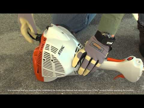 STIHL FS 50 C-E Trimmer – How to Start