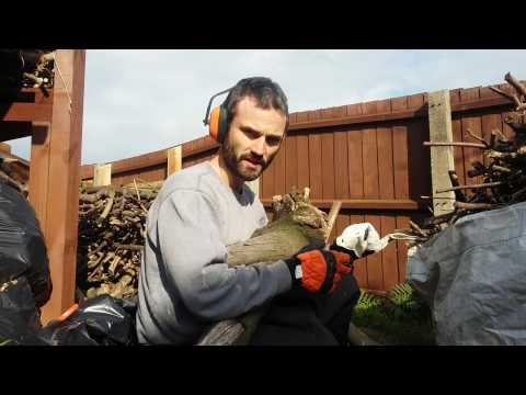 Stihl MS211 Chainsaw review and demonstration.