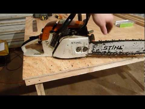 Replacing the chain sprocket on a Stihl chainsaw