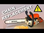 CHAIN REPLACEMENT on a Stihl chainsaw MS 250 – How to
