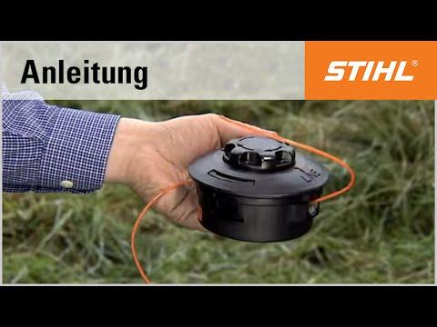 Das Befüllen des Mähkopfs STIHL AutoCut C 25-2