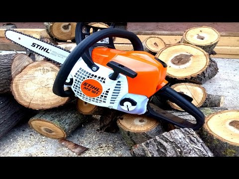 Review STIHL MS 181 Chainsaw Start Up / Starting