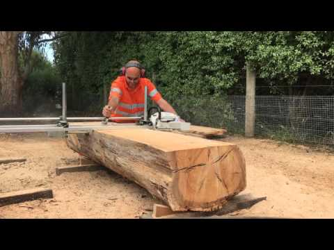 Stihl MS661 with Granberg Alaskan Chainsaw Mill