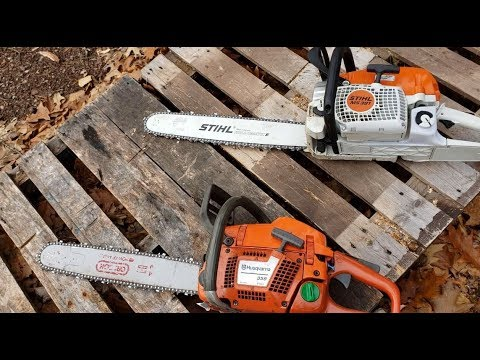 New Stihl MS391 Chainsaw and my Husqvarna 359.