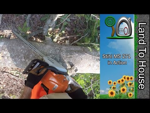 Stihl ms 271 Chainsaw in Action