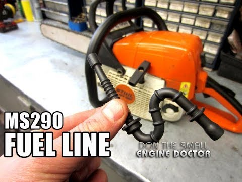 How-To Replace  A Chainsaw Fuel Line – Stihl MS290 | MS390