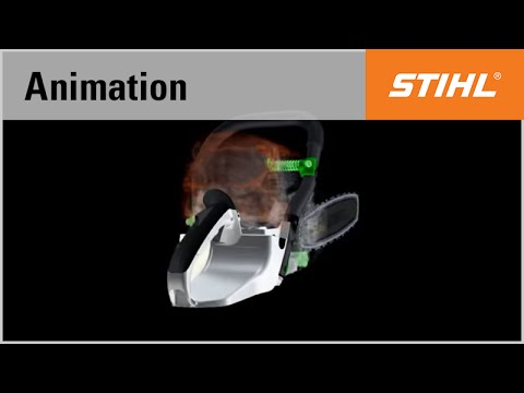 The anti-vibration system in the STIHL MS 441 chainsaw