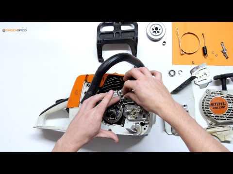 Échanger le frein de chaine sur une tronçonneuse Stihl