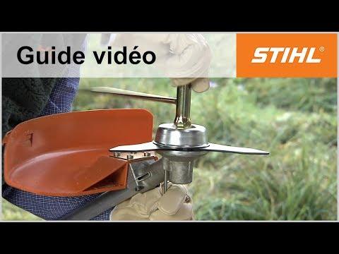 Montage du couteau à taillis 250mm – Coupe-bordures STIHL