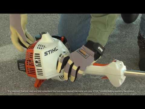 STIHL FS 38 Trimmer- How to Start