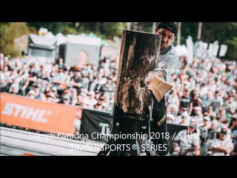 STIHL TIMBERSPORTS FINALE CHAMPIONNATS DE FRANCE 2018 (Guéret les 8 et 9 septembre 2018)