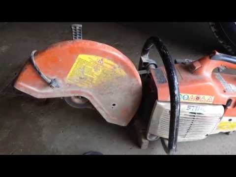 How to change a blade on a Stihl TS400 14 inch