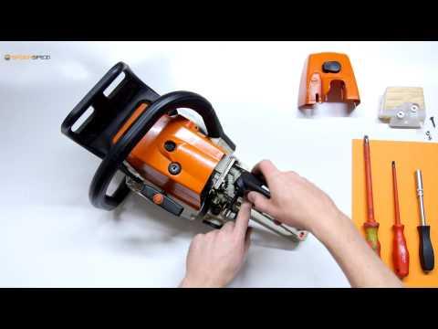 Échanger le carburateur et le filtre à air sur une tronçonneuse Stihl