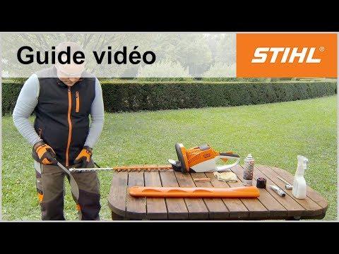 Aiguiser les lames de coupe – Taille-haies sur batterie STIHL