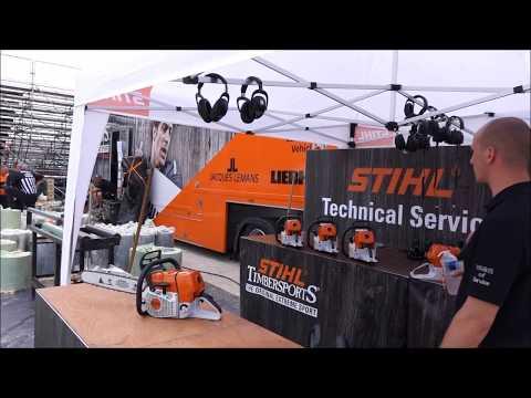 Stihl TIMBERSPORTS® Champions Trophy 26/05/2018, Marseille : Préparatifs backstage de la compétition