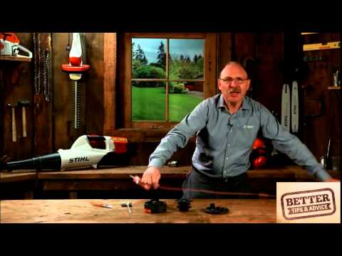 STIHL Better Tips: How to re-fill a Supercut 20-2 grass trimmer head with nylon line