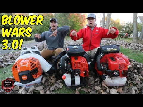 Blower Wars 3.0! Testing The New STIHL BR800 & ECHO PB-8010 Backpack Blowers