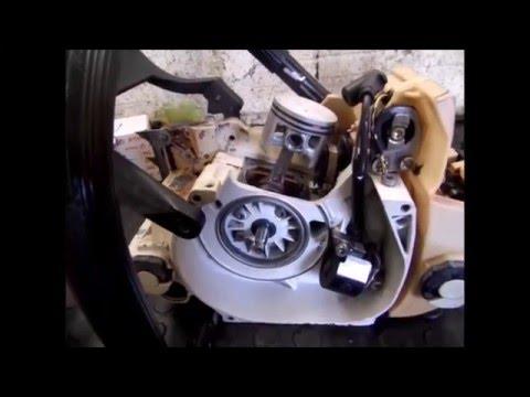 Motosserra Stihl MS 380 – 1/2 – Falta de Óleo 2 Tempos – Troca Kit Cilindro e Pistão