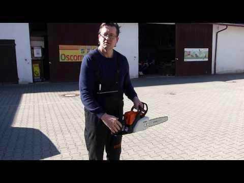 Motorsäge Stihl MS 170 fachgerecht starten