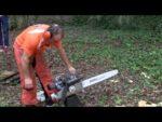 Gilles GIGUET, quintuple champion de France Stihl Timbersports : Démarrage de sa tronçonneuse