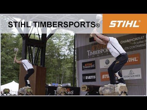 STIHL TIMBERSPORTS – LES CONTAMINES MONTJOIE – Championnat de France de Bûcheronnage