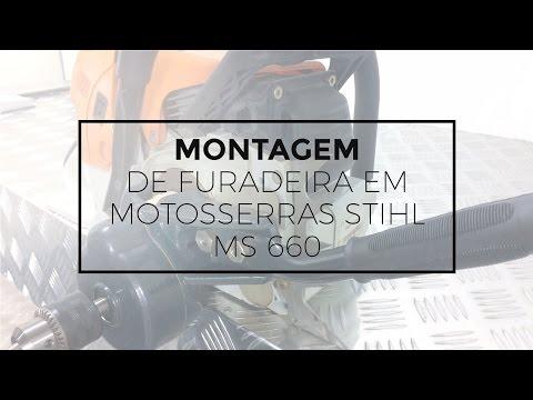 75 – Montagem da Furadeira Meghi em Motosserra Stihl MS 660