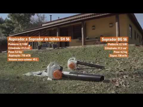 Soprador STIHL BG 56 e aspirador STIHL SH 56