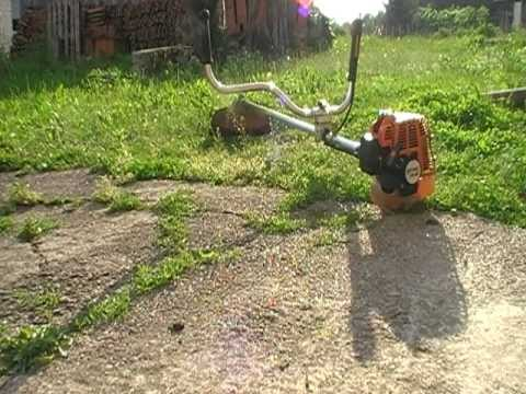 Using my brushcutter Stihl FS 85 with the cutting/trimmer line head on pt. 1
