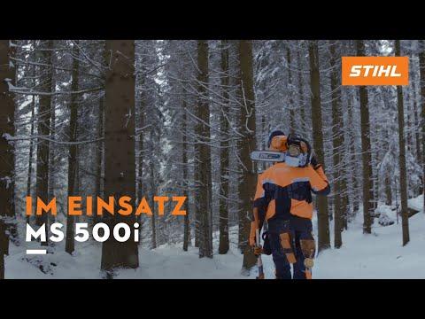 STIHL MS 500i Motorsäge im Forsteinsatz