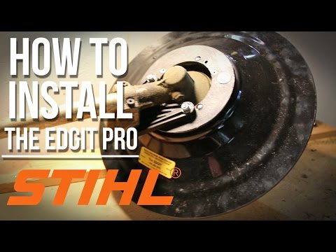 How To Install The Edgit-Pro On A Stihl Trimmer   Step-By-Step