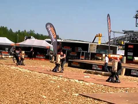 Stihl Timbersports 2012 F 60 Cup Standing Block Chop Ebner Kraus Braun