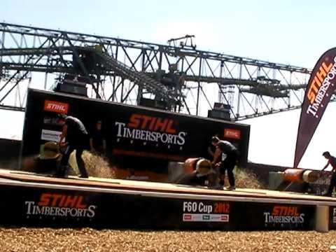 Stihl Timbersports 2012 F 60 Cup Stock Saw Ebner Striewe Dengler