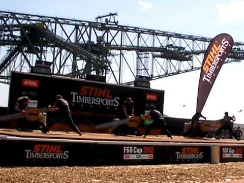 Stihl Timbersports 2012  F 60 Cup Single Buck Jeske Bauer Dengler