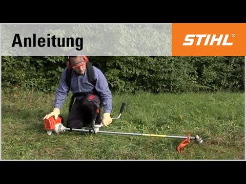 Das Starten der Motorsense STIHL FS 130