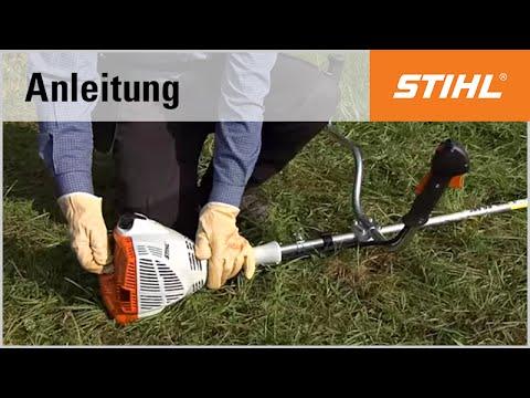 Das Starten der Motorsense STIHL FS 56