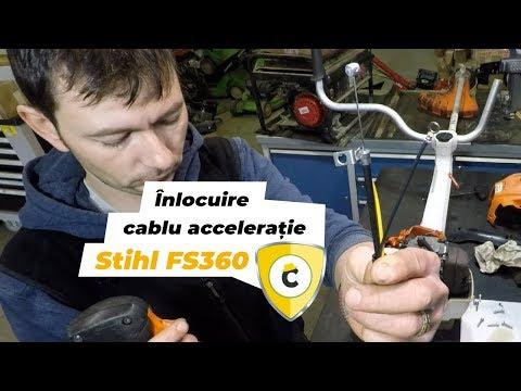 Înlocuire cablu de accelerație motocoasă Stihl FS 360