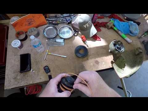 How to restring Stihl Dual Sided Weed Eater Trimmer with double string EASY WAY HACK