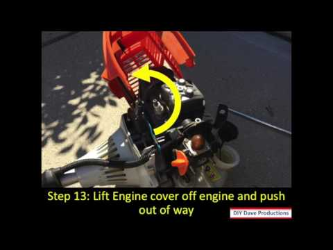 How to fix a gas leak on a  Stihl KM110 trimmer/edger unit