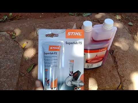 Stihl 2 stroke oil and stihl superlub fs