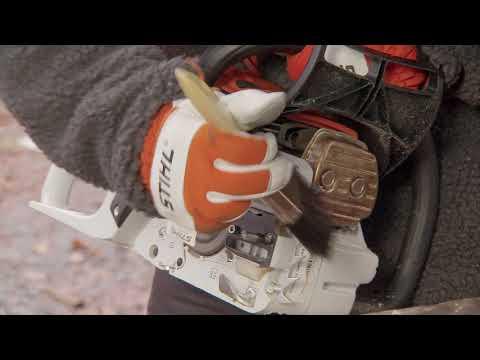 Cómo desmontar y limpiar Motosierra STIHL: tapa del piñón, espada y cadena