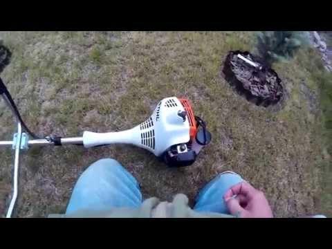 Stihl FS 55 – cold start and some grass cutting