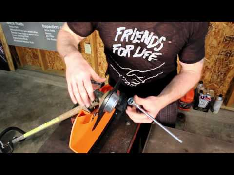 Stihl FS 90R Overview, brushcutter installation how-to, and demonstration