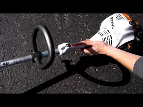 How to start & Use a STIHL FS 46 weedeater weed Grass trimmer wacker 45 55