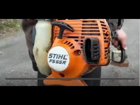 How I clean a plugged exhaust screen – spark arrestor on a Stihl Weedeater