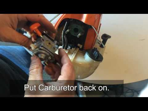 Changing Fuel Line on Stihl FS90R Trimmer Weedeater