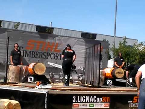 Stihl Timbersports 2011 Ligna Cup Hot Saw : markus Dengler –  F. Hillemacher