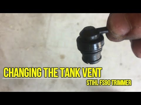 How to replace the tank vent on a Stihl FS90R trimmer weedeater
