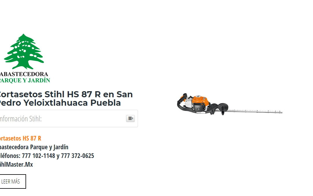 Cortasetos Stihl HS 87 R en San Pedro Yeloixtlahuaca Puebla