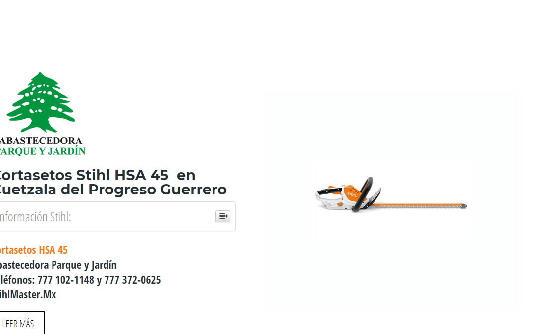 Cortasetos Stihl HSA 45 en Cuetzala del Progreso Guerrero