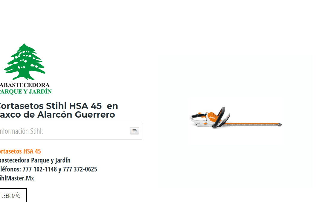 Cortasetos Stihl HSA 45 en Taxco de Alarcón Guerrero